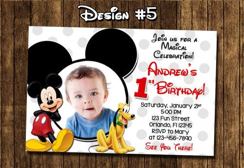 Mickey Mouse Birthday Party Baby First 1st Clubhouse Red