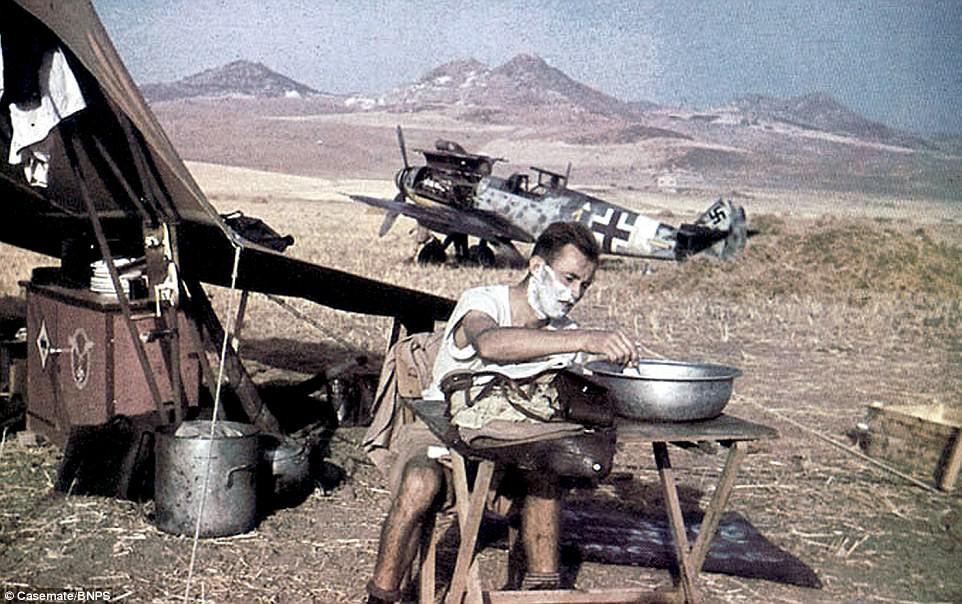 German Luftwaffe captured in colour photos