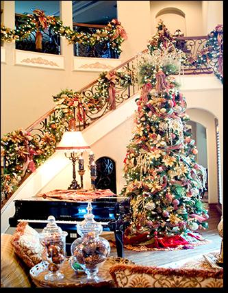 Christmas Decorating Dallas Christmas Interior Designers Dfw Christmas Staircase Christmas Stairs Christmas Interiors