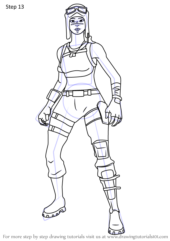 Learn How To Draw Renegade Raider From Fortnite Fortnite Step By Step Drawing Tutorials Coloring Pages For Boys Learn To Draw Designs To Draw