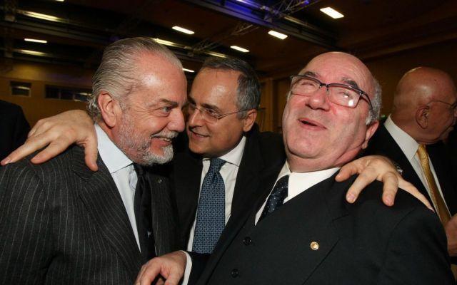 Aurelio De Laurentiis, presidente del Napoli conferma che Tavecchio sarà votato come presidente della Figc