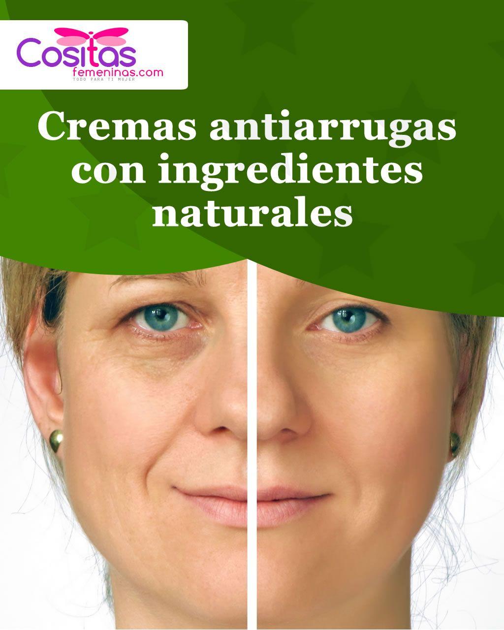 Cremas antiarrugas con ingredientes naturales - Consejos..