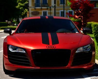 Audi R8 Complete With Racing Stripes Boss Or Not Audi Cars Posh Cars New Sports Cars