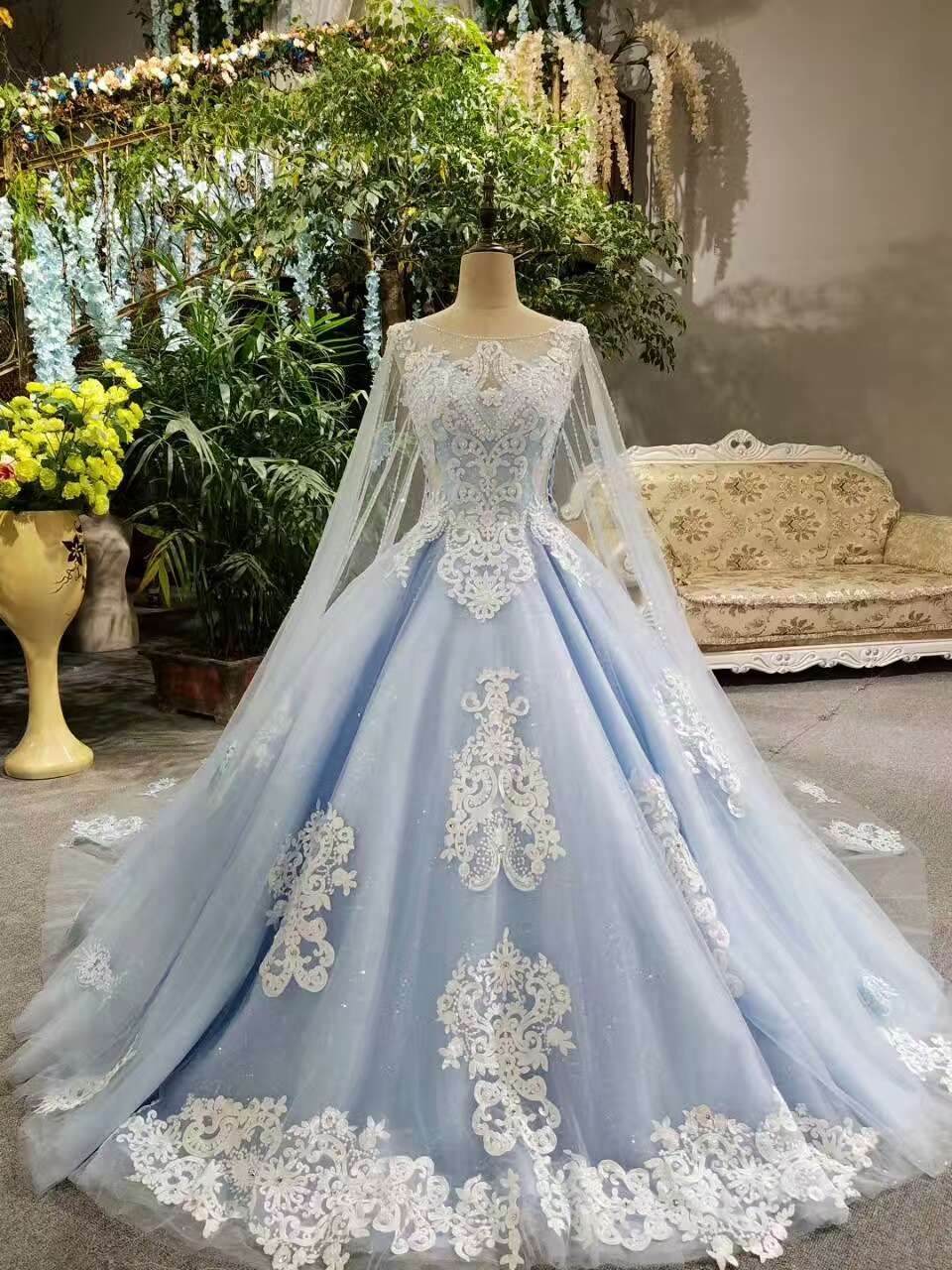 Photo of 2019 Tulle Tiffany Blue Wedding Dresses Lace Up With Appliques And Beaded Scoop Neck $ 273.14 SAPZCCX2A6 – FancyEveningDresses.com