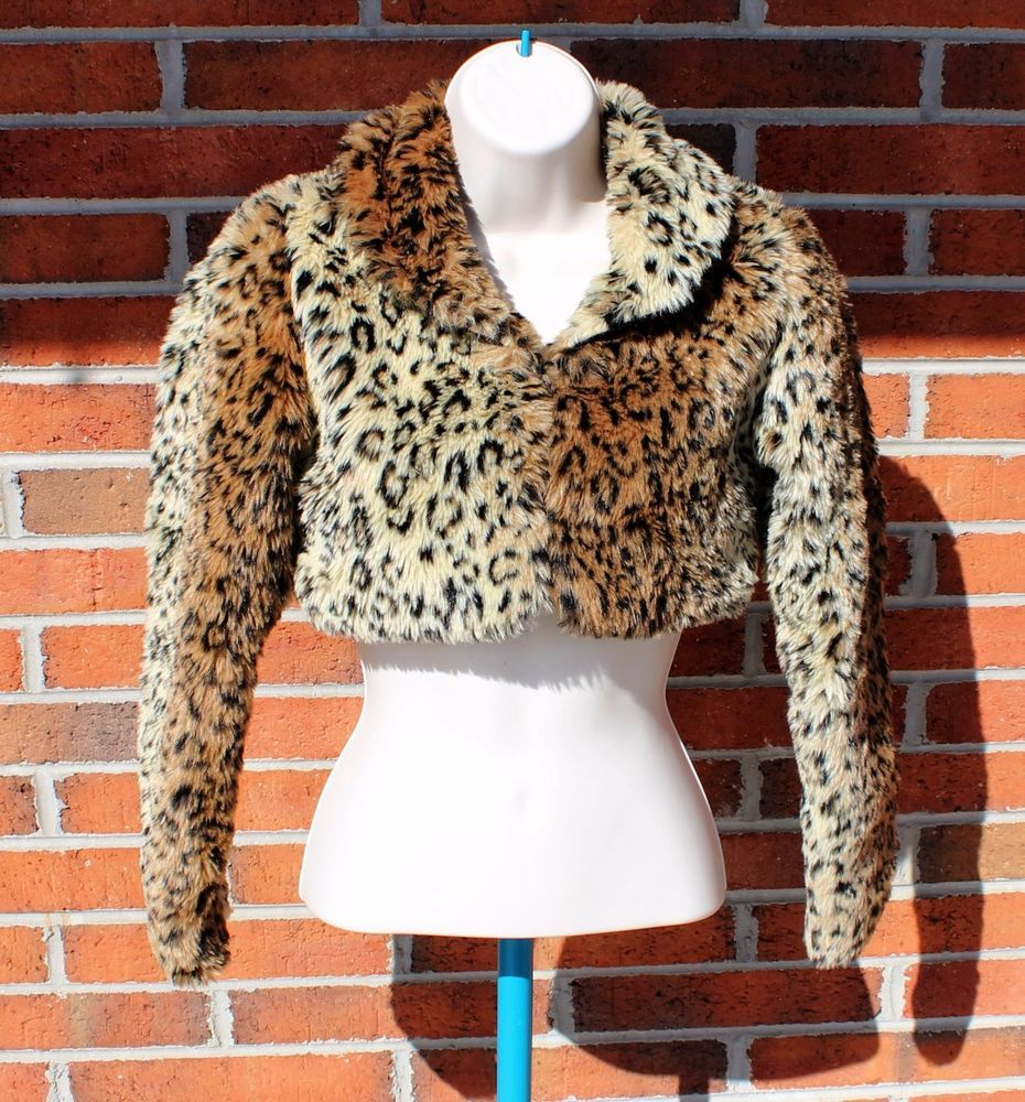 The Children's Place L 10/12 Cropped Animal Leopard Print Cardigan ...