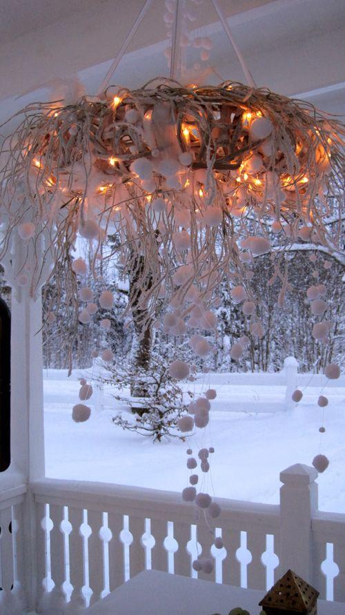 Weihnachtsdeko grün/weiß - Christmas decoration green