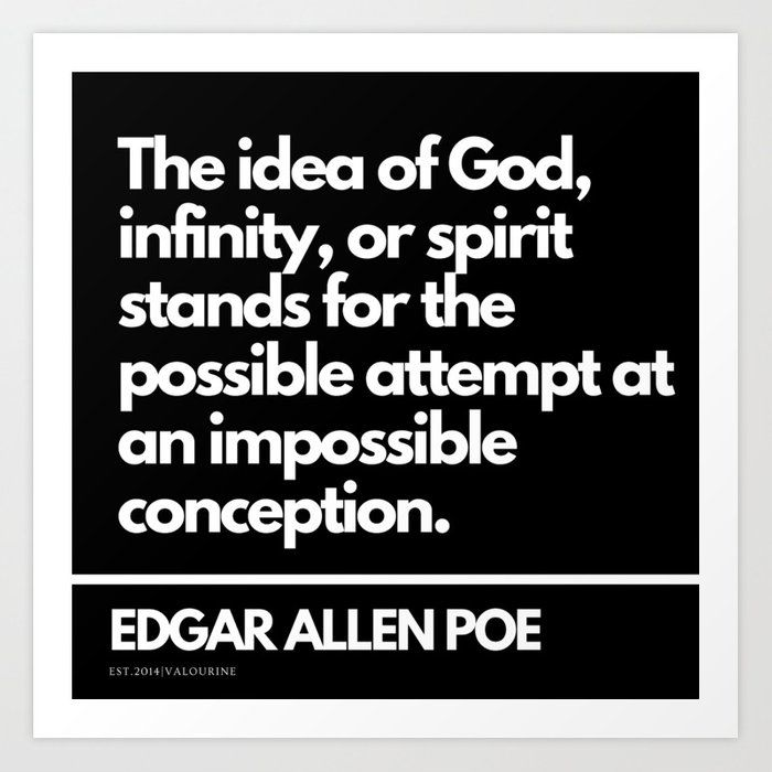 65| Edgar Allen Poe Quotes | 201012| Existentialism Nihilism Existentialist Philosophy Writer Raven Art Print by Wordz