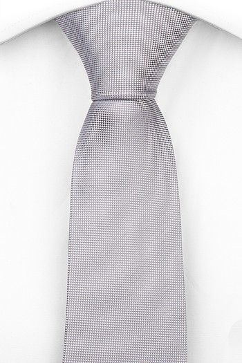 Necktie - Birdseye pattern in champagne & white - Notch BENOIT Notch DFaXbRRX