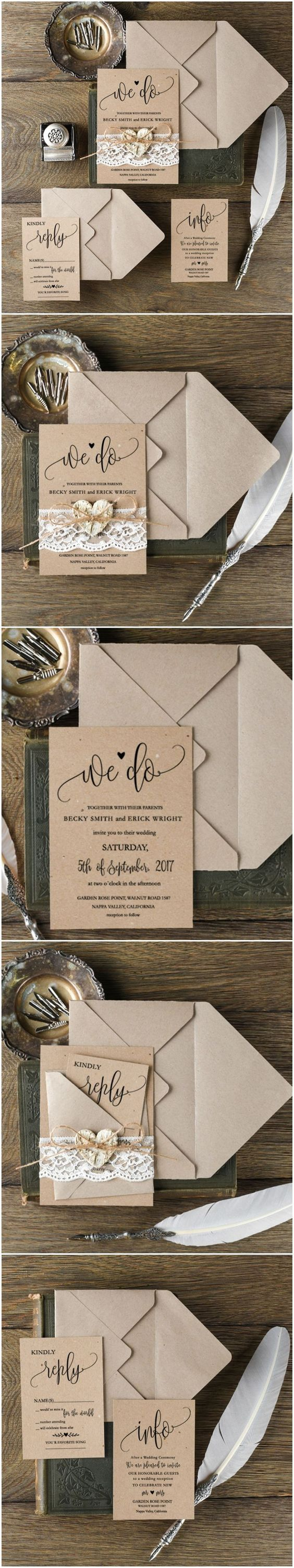 Wedding invitations calligraphy romantic lace lace weddings and