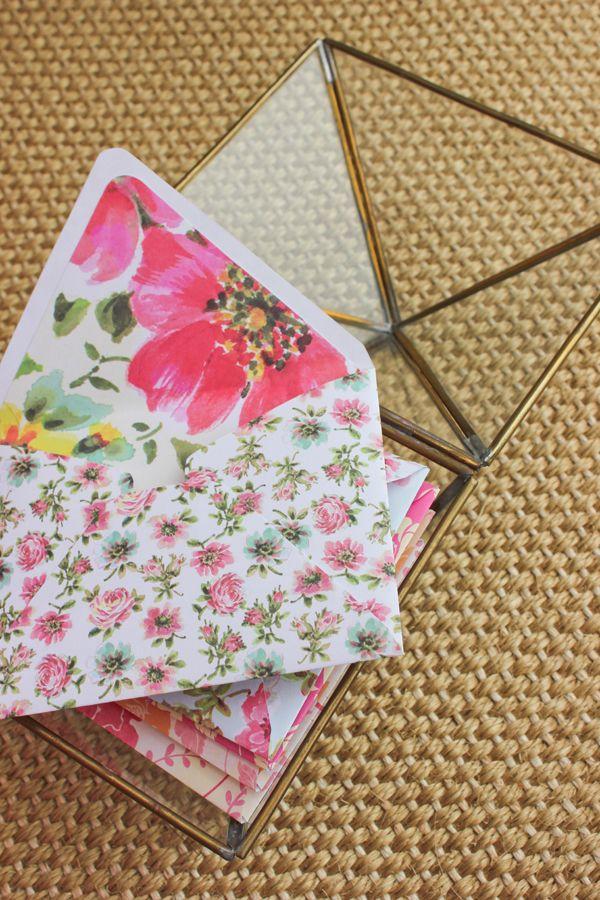 Colorful DIY envelopes
