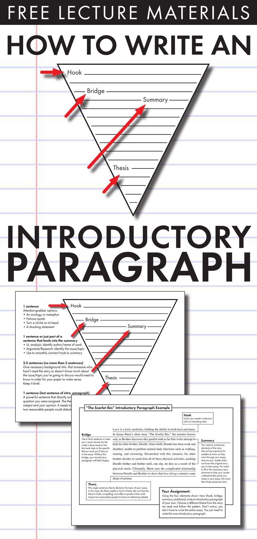The Scarlet Ibis Worksheet How to Write An Introductory