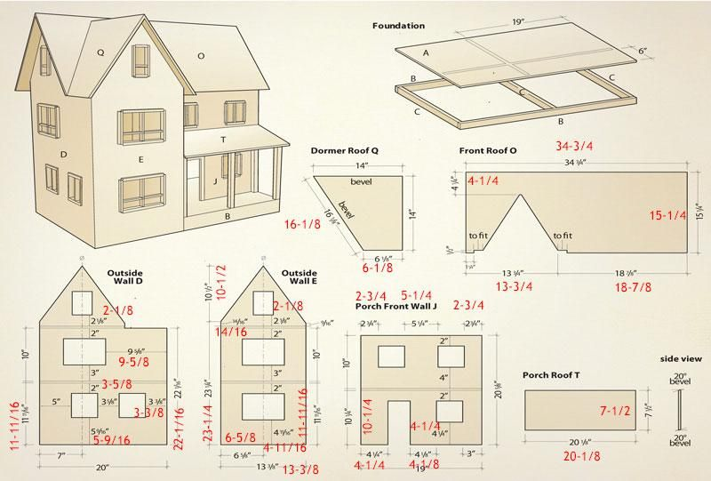 Dollhouse Dollhouse Woodworking Plans Doll House Plans Doll House