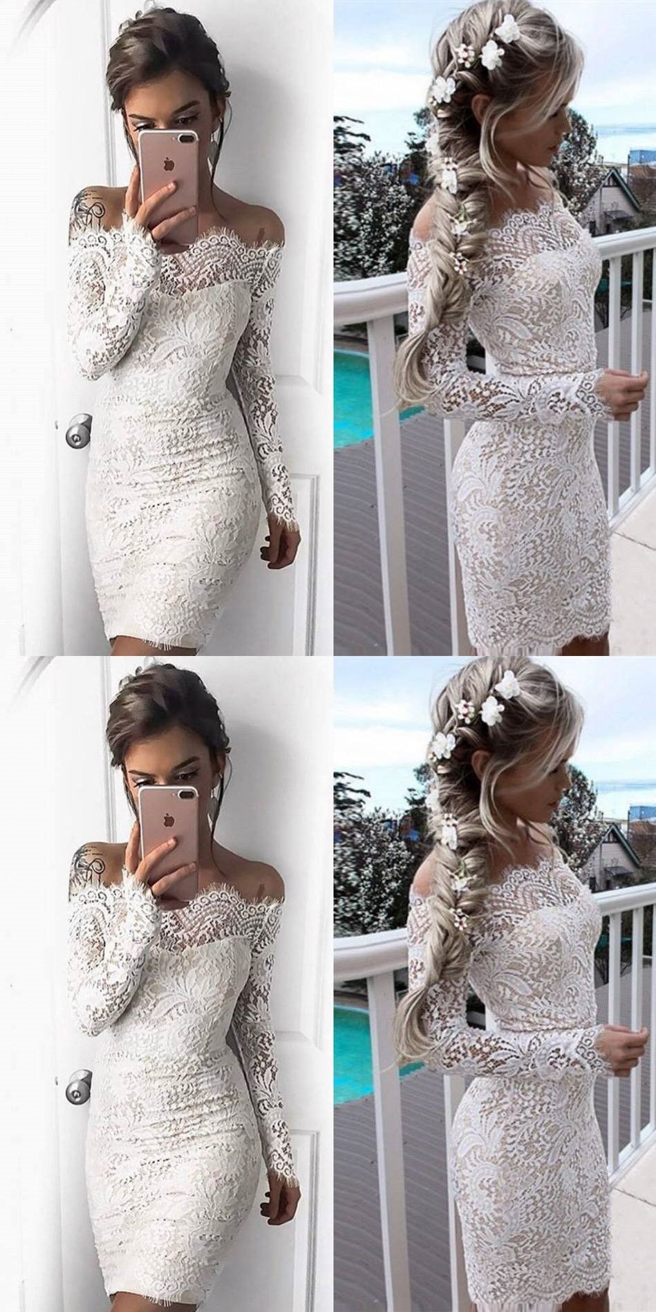 Off the shoulder homecoming dress lace cheap party homecoming dress