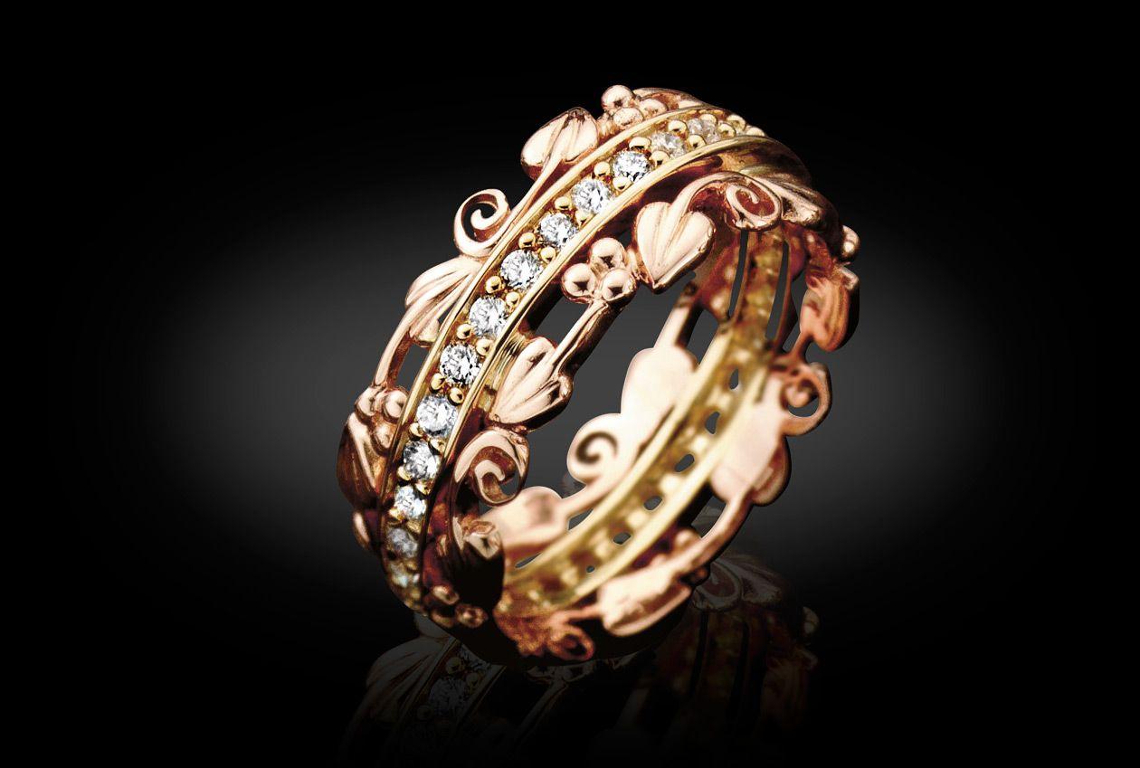 18ct Gold Am Byth Ring Clogau
