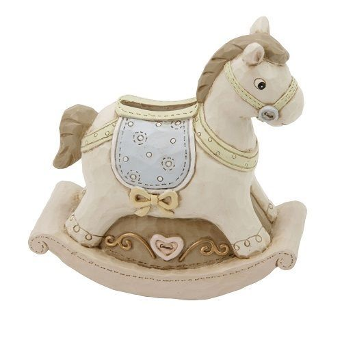Christening Gifts Girls Silver Rocking Horse Money Box
