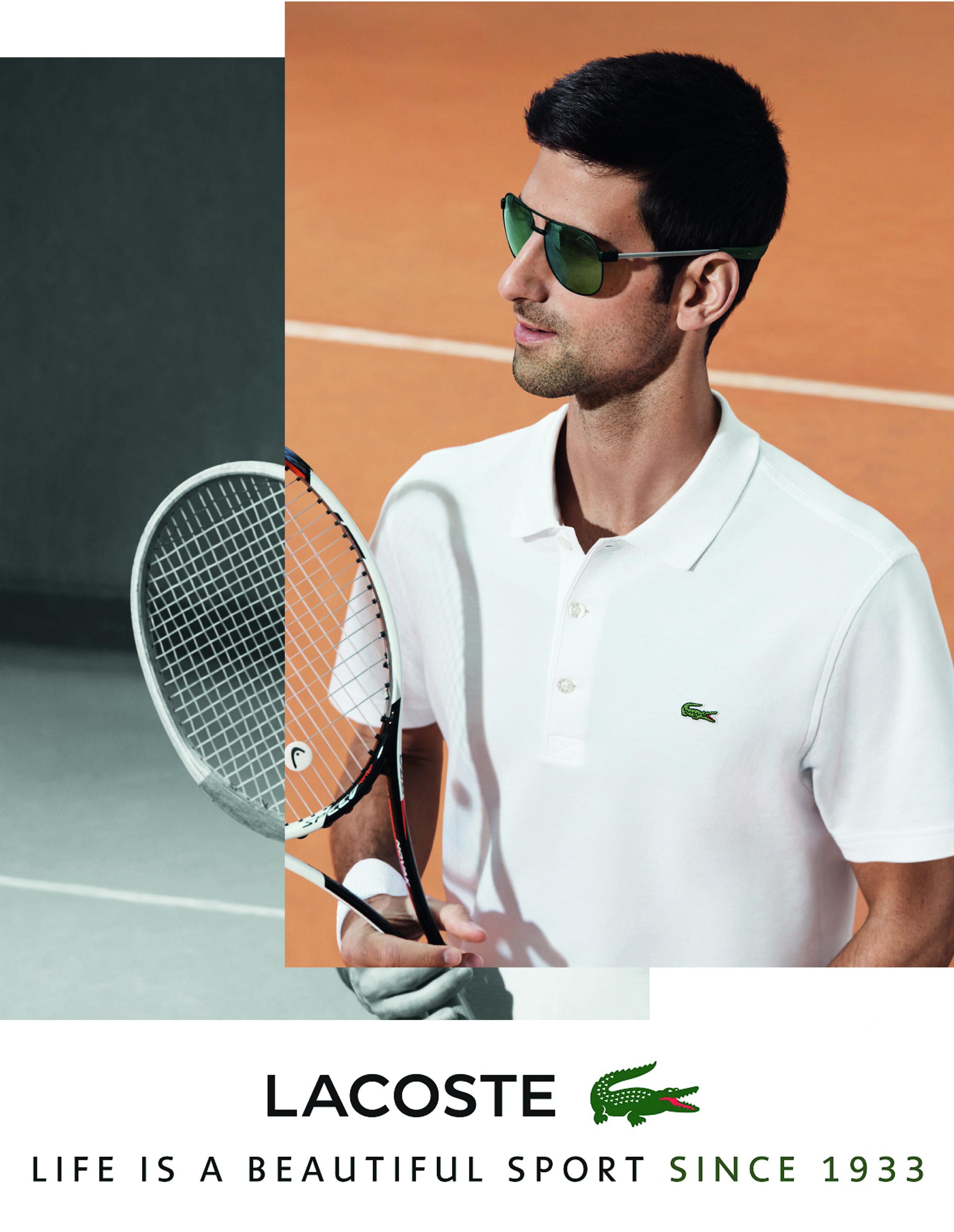 606ef96f0d2e Lacoste Magnetic Lock Sunglasses. Worn by Novak Djokovic. Lens by ZEISS.   AlMokhtar