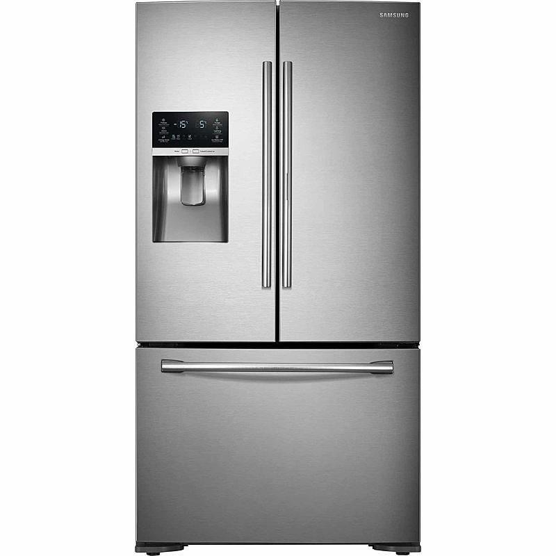 Samsung Rf23htedbsr 23 Cu Ft French Door Refrigerator With Food Showcase Stainless Steel In 2020 French Door Refrigerator Counter Depth French Door Refrigerator Stainless Steel French Door Refrigerator