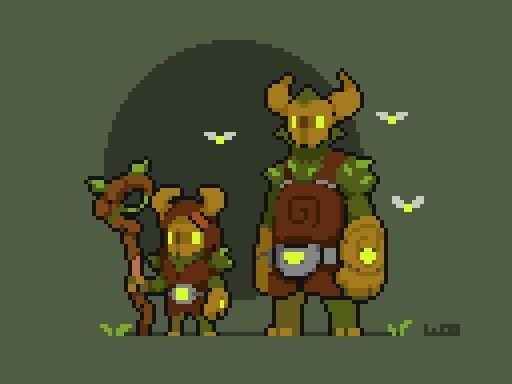 Photo of Pixel Art> Sprites de criaturas cornudas> Habitantes del bosque encantado   WoostarsPixels #Pixel_Dailies