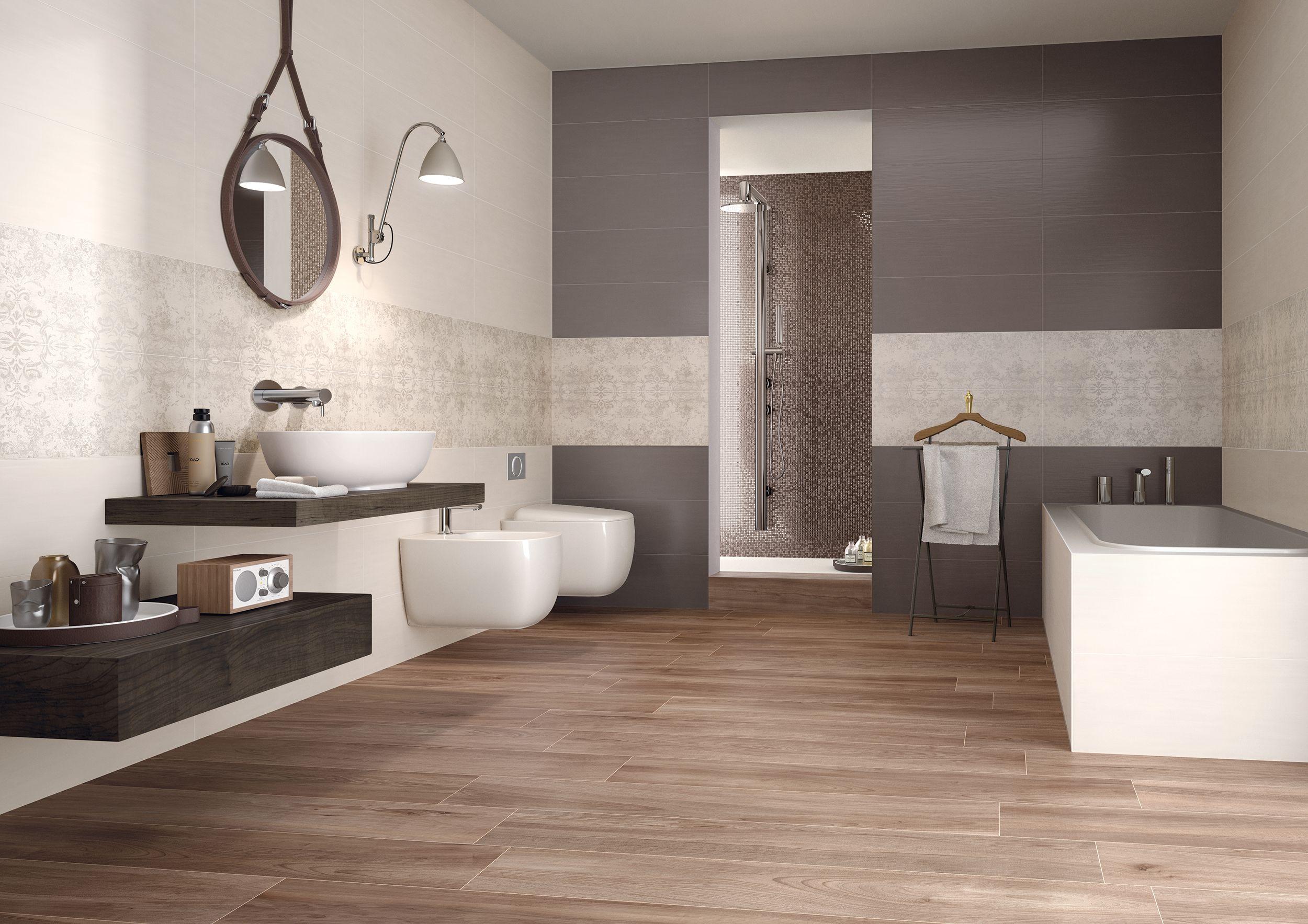 A pavimento di questo bagno la nostra collezione priv - Piastrelle bagno legno ...