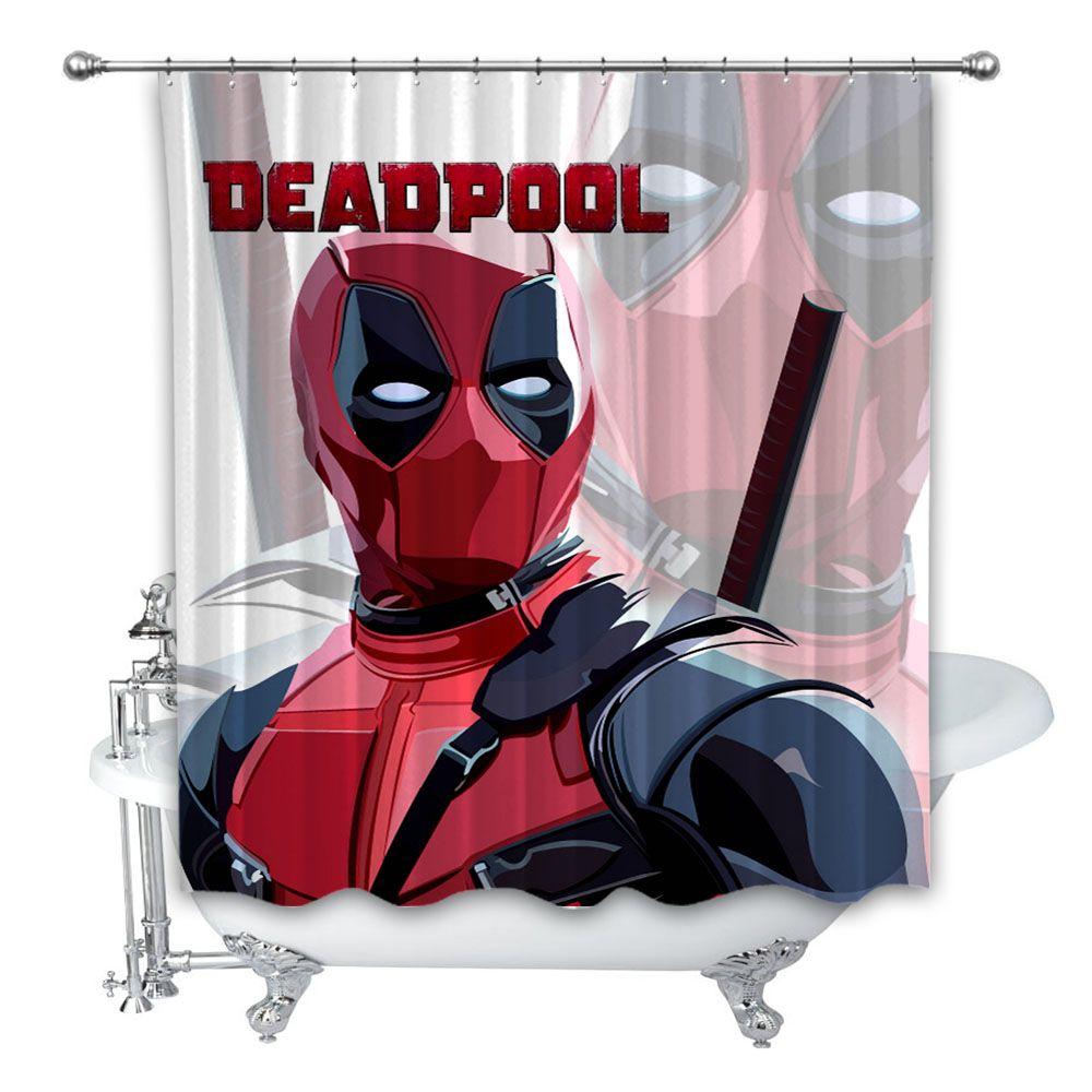 Custom Made Deadpool V1 Shower Curtain Curtains Decorating Your