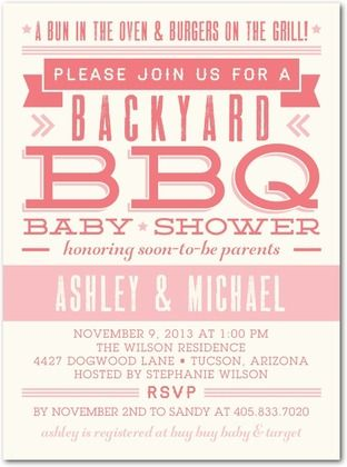 Baby Bbq Wild Strawberry Baby Shower Invitations In Wild