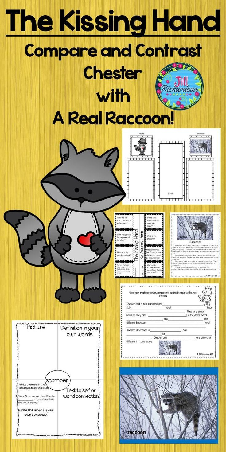 The Kissing Hand Book Companion (Paired Text!) ESL Resources