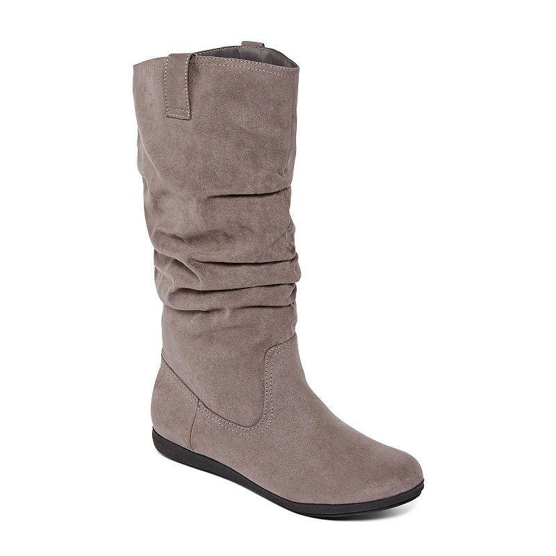 02a3bb9a814 Arizona Womens Kerri Wide Calf Slouch Boots Flat Heel Pull-on ...