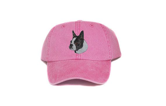 e8df409540a Boston terrier embroidered hat baseball cap dog lover gift Gifts For Pet  Lovers