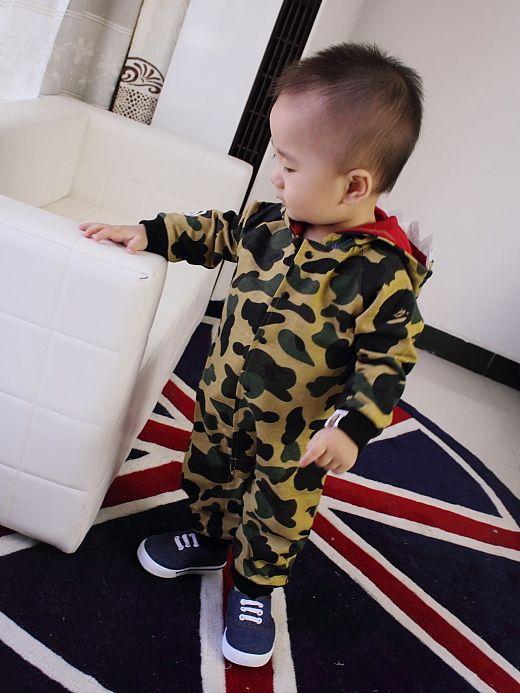 3bf602457b7f Baby boy girl long sleeve woodland camouflage romper