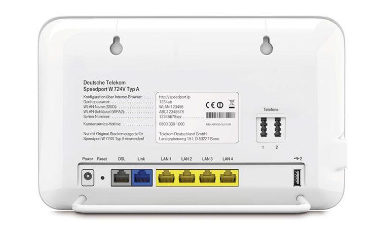 Telekom Speedport 724 Router Design Details Deutsche Telekom