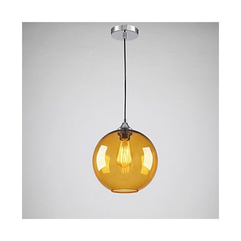 Modern glass pendant light in round amber bubble design brintons modern glass pendant light in round amber bubble design mozeypictures Gallery