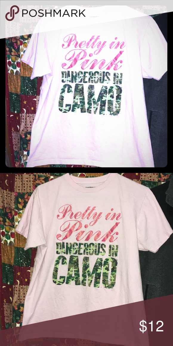 a70066f513 Pretty in Pink Dangerous in Camo Tee Womens T-shirt Size L Lifestyle  Legends Tops Tees - Short Sleeve