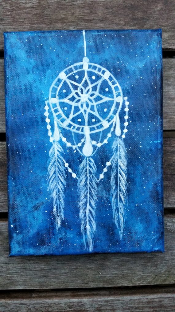 dreamcatcher painting dreamcatcher canvas by. Black Bedroom Furniture Sets. Home Design Ideas