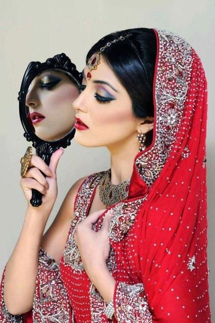 8e335d5d57 Khawar Riaz Bridal Makeover red and black | CULTURE | Pakistani ...