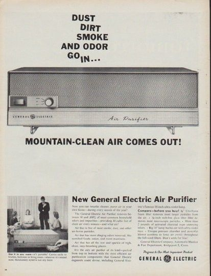 1960 General Electric Vintage Ad Mountain Clean Air Electric