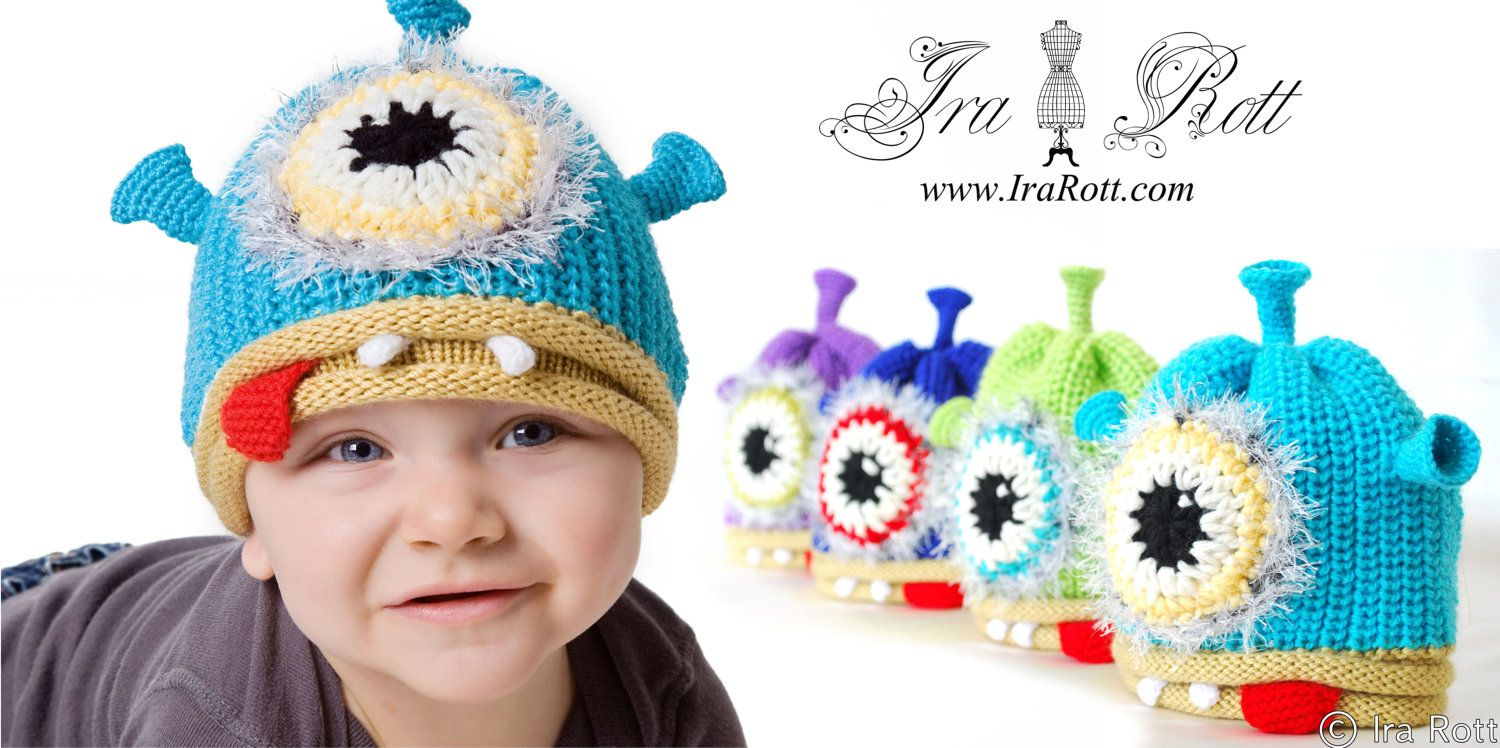 95cec948 One Eye Alien Monster Hat for Newborn to Kid Sizes - READY to SHIP. $30.00,  via Etsy.