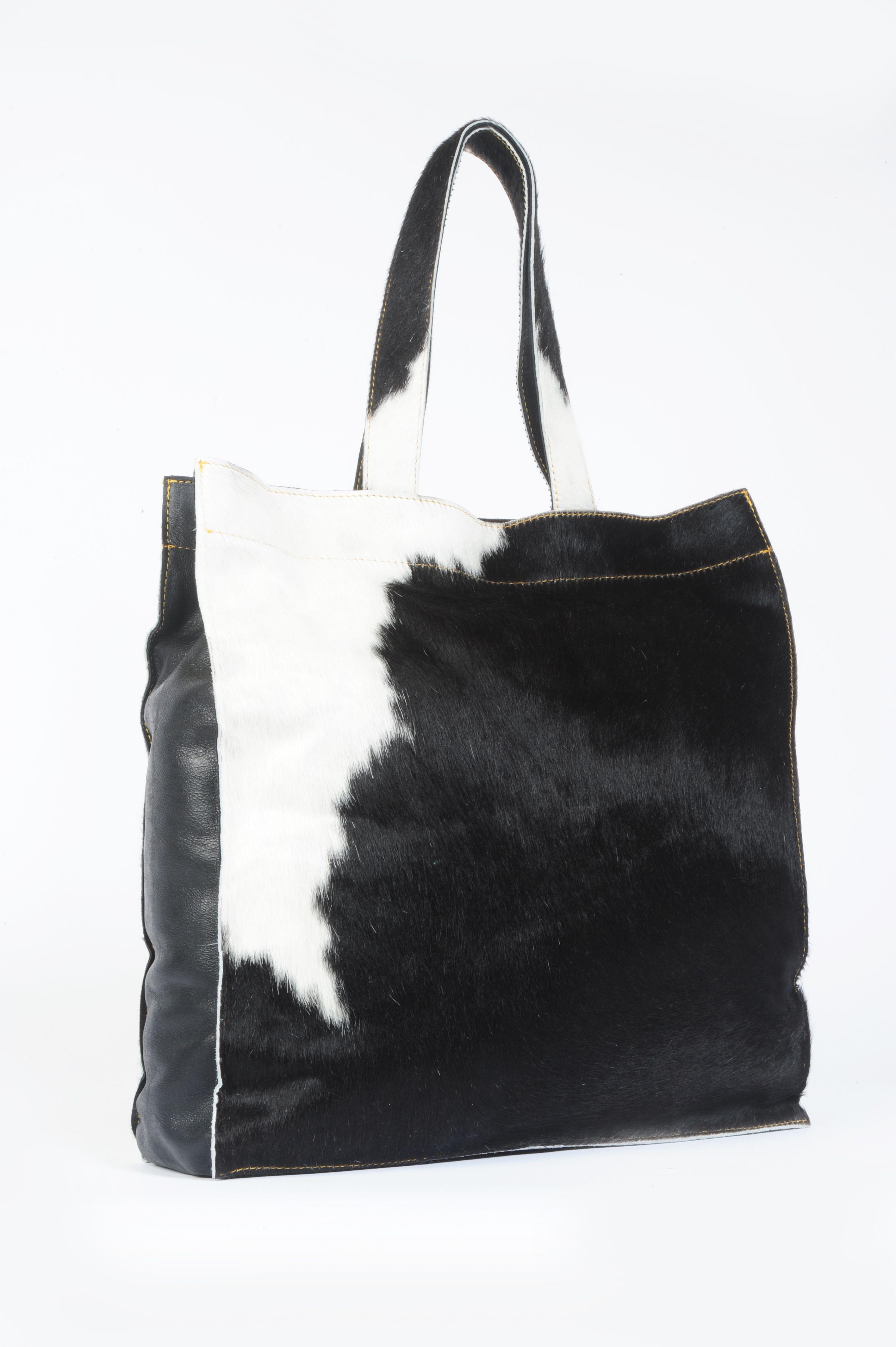 5182aa63ca bolsa cuadrada de cuero de vaca con pelo