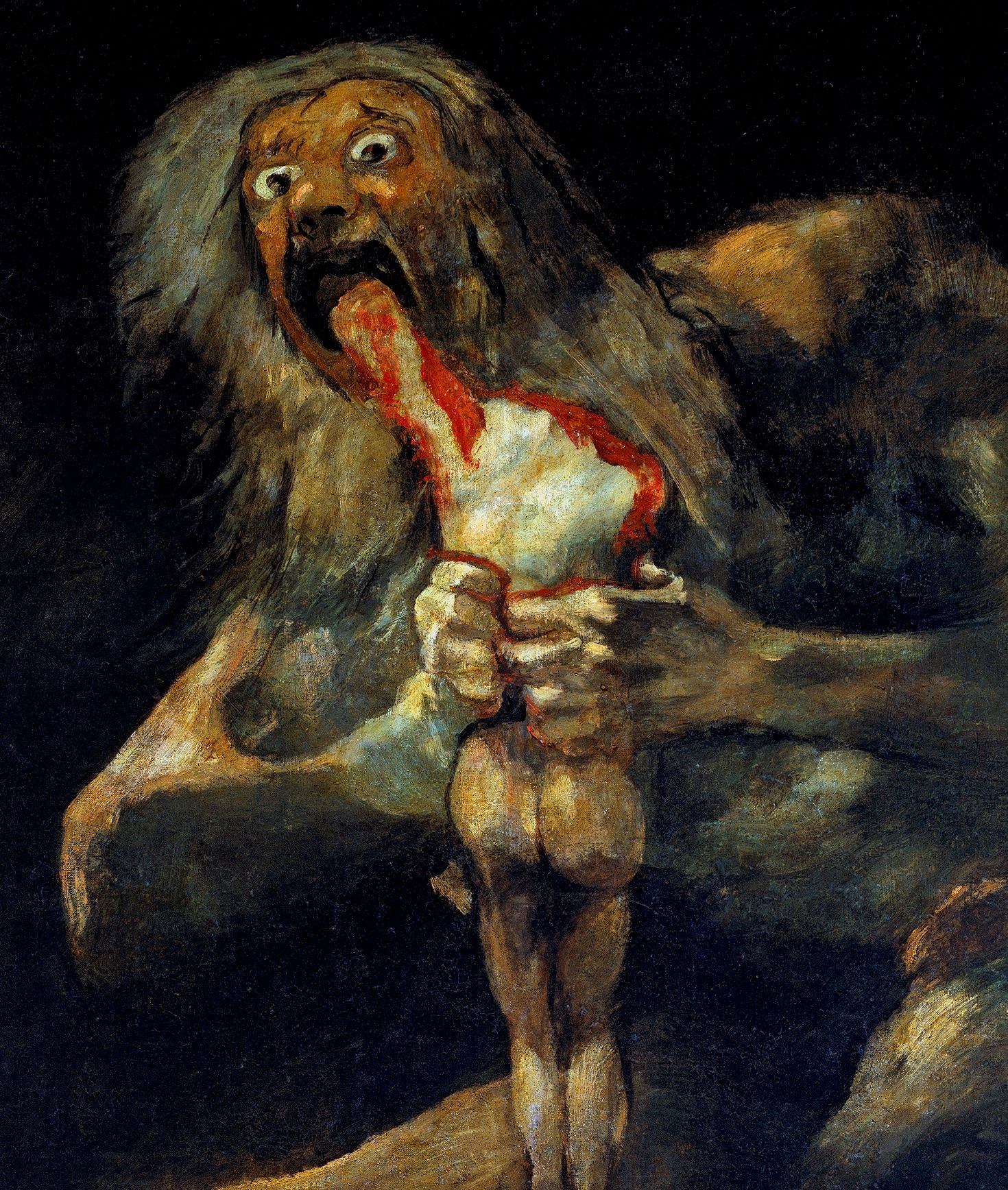 The Black Paintings is the name given to a group of fourteen paintings by Francisco Goya from the later years of his life, likely between 1819 and 1823. They portray intense, haunting themes, reflective of both his fear of insanity and his bleak outlook on humanity. In 1819, at the age of 72, Goya moved into a two-story house outside Madrid that was called Quinta del Sordo . Although the house had been named after the previous owner, who was deaf, Goya too was nearly deaf at the time as a…
