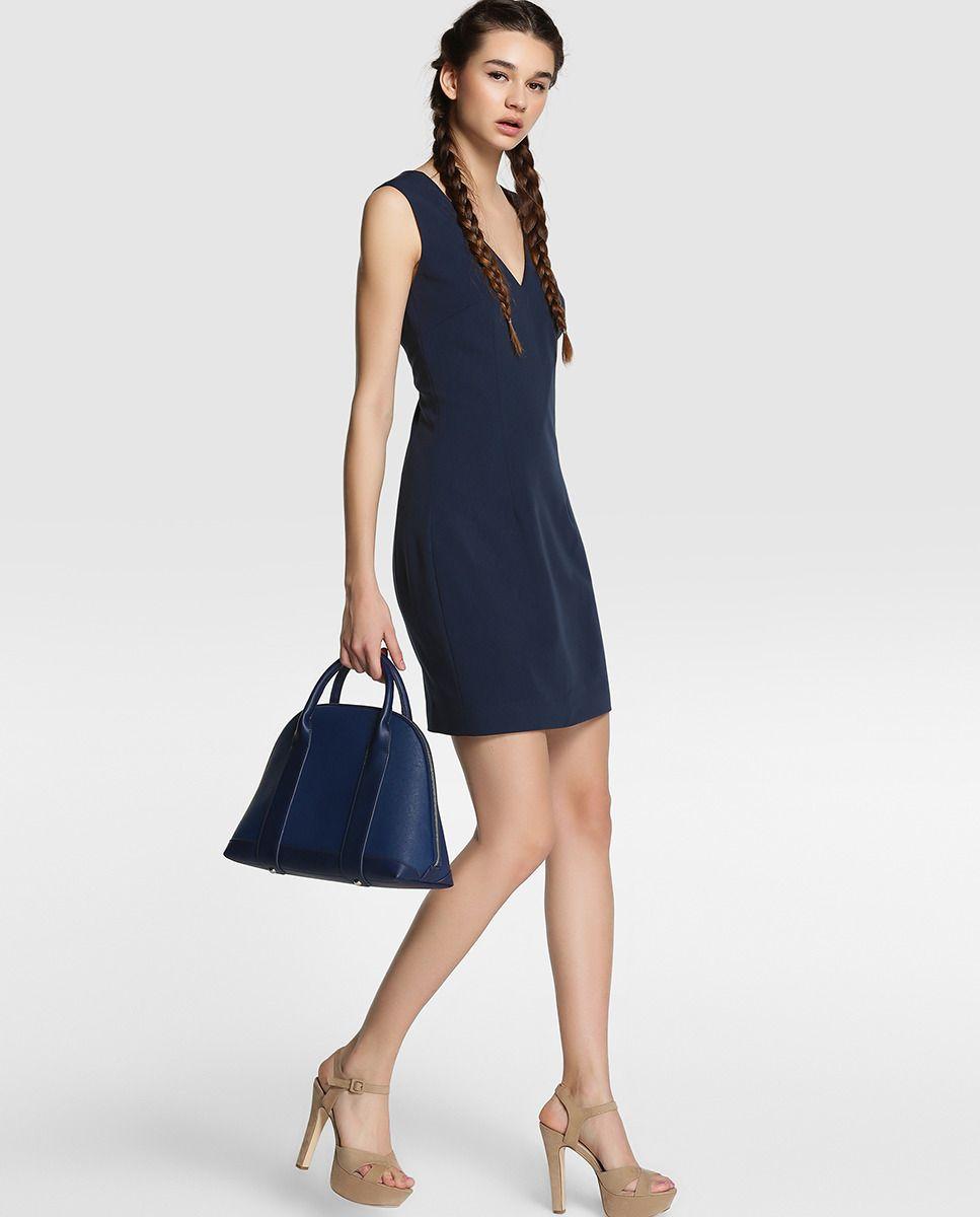 a5ae1dd07 Vestido de mujer Vila azul marino sin mangas | Outfits | Vestidos ...
