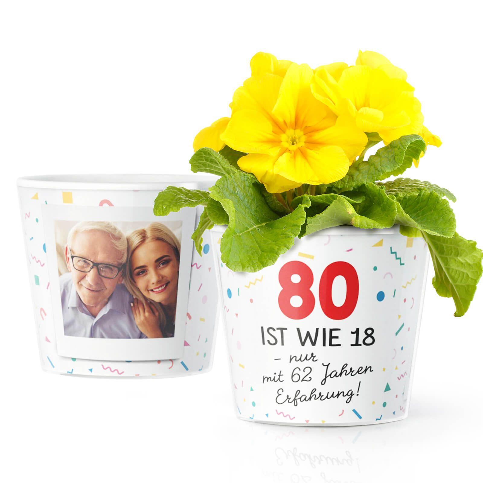 Geschenk zum 80. Geburtstag: 80 ist wie 18, nur mit 62