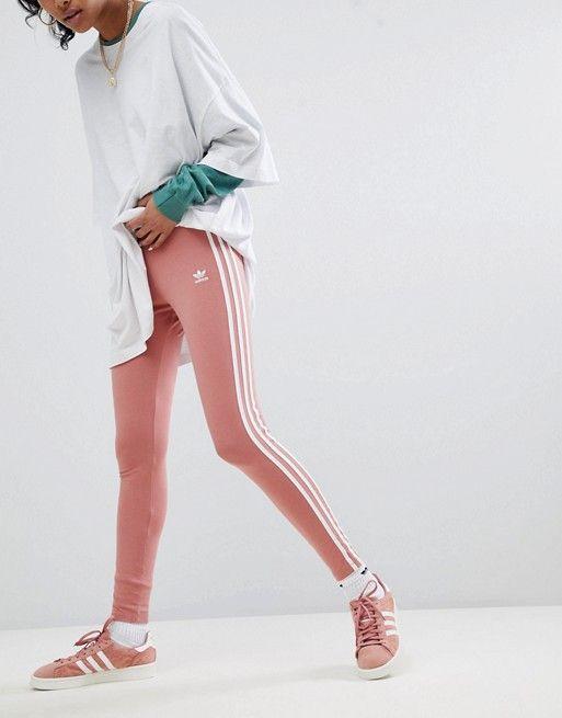 adidas Originals tres rayas leotardos a leotardos rayas tres en color rosa | a9241cc - sfitness.xyz