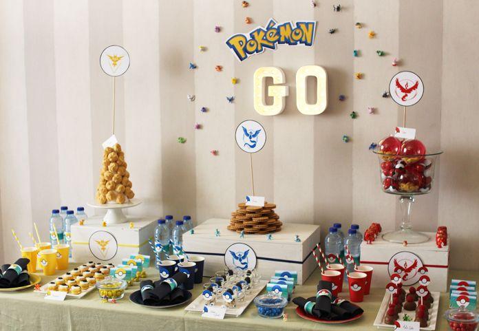 Une décoration d'anniversaire Pokémon Go ? Eh oui, comme beaucoup on