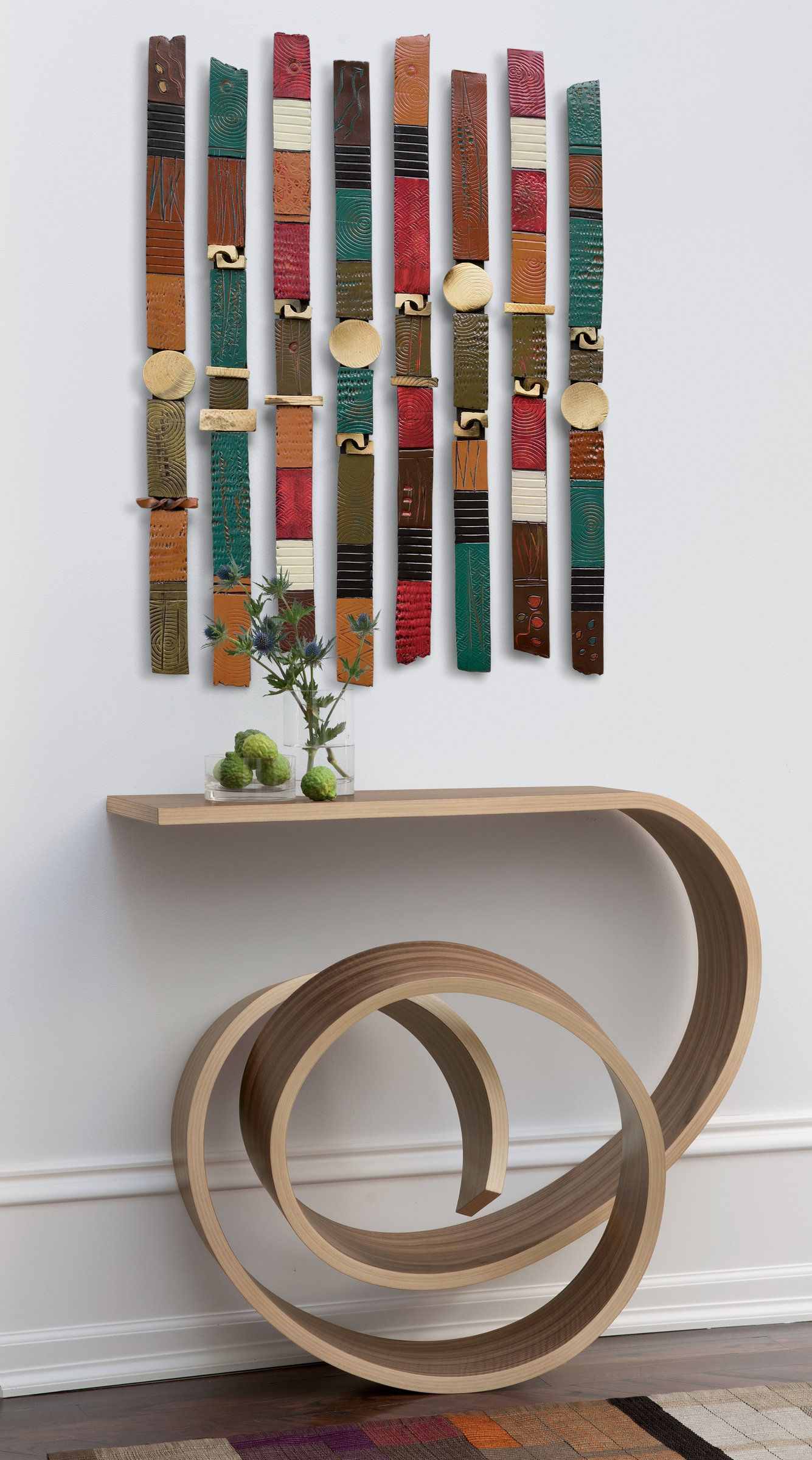 Story sticks by rhonda cearlock ceramic wall art available at