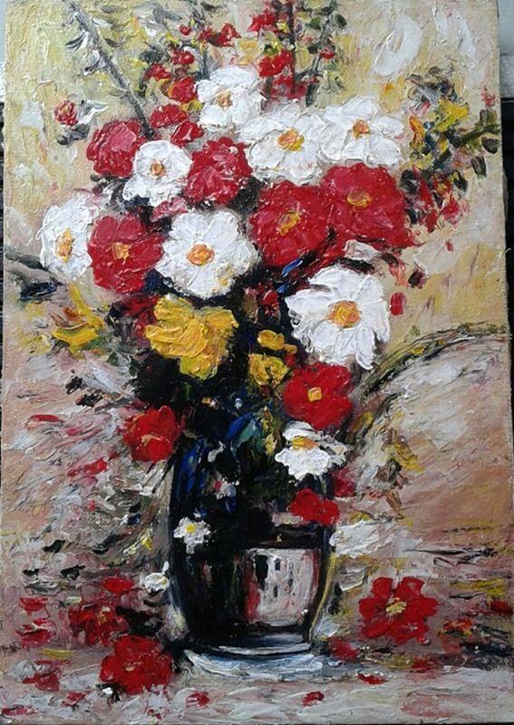 40 35 Cm Lukisan Bunga Lukisan Abstrak Abstrak