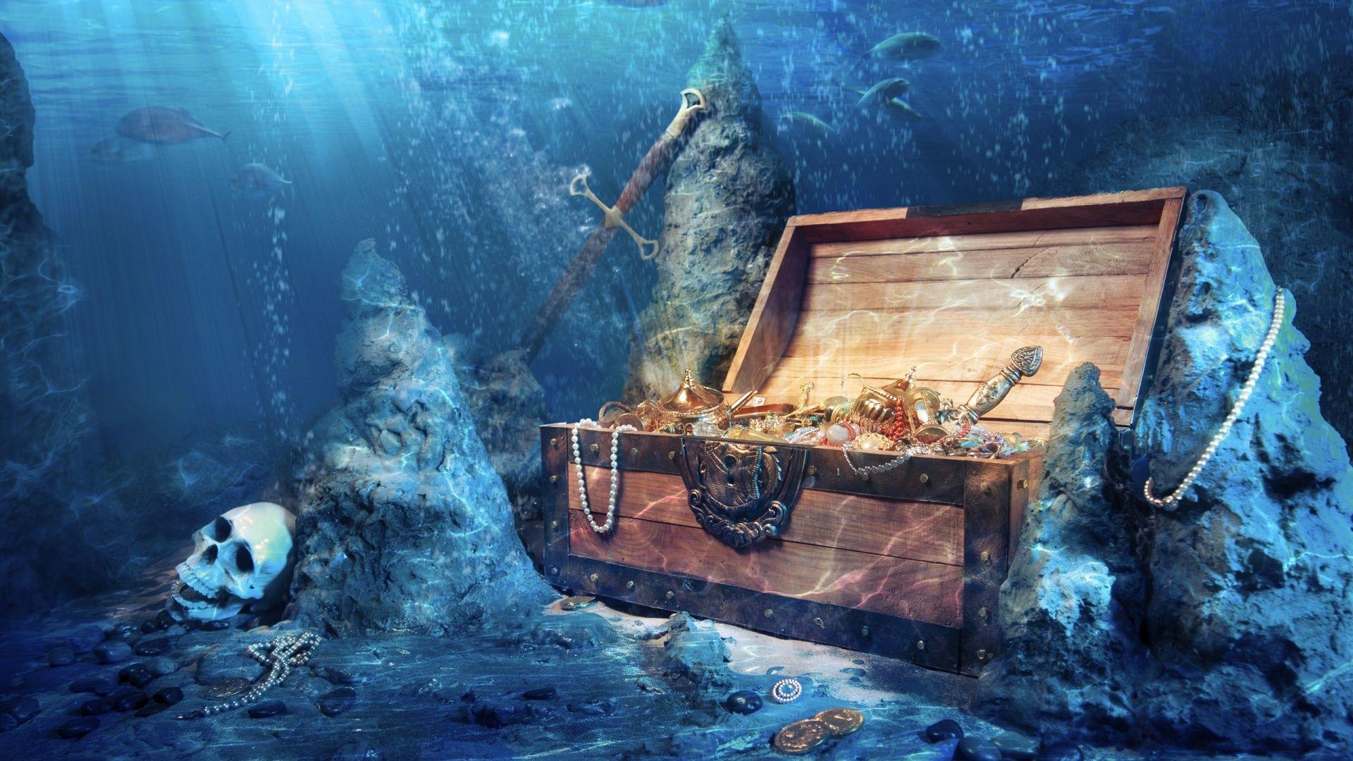 Treasure Underwater Wallpapers 1920x1080 What lifes beneath