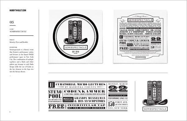 Graphic Design Portfolio Layout Examples – Design & Art