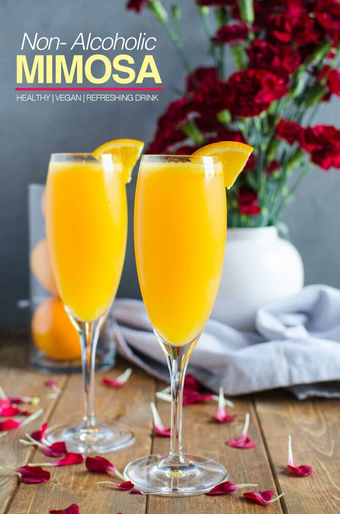 Best Mimosa Recipe - An amazing brunch mocktail for alcohole free drink | watchwhatueat.com