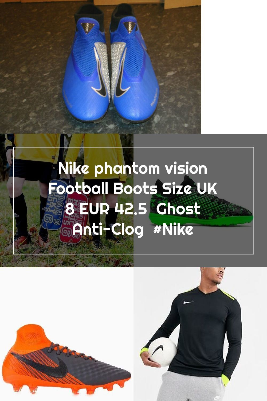 Microordenador irregular Agencia de viajes  Nike phantom vision Football Boots Size UK 8 EUR 42.5 Ghost Anti-Clog #Ni |  Football boots, Nike football boots, Boots