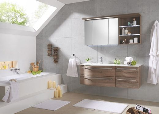 Elegantes Badezimmer In Eichefarben Novel Schafft Harmonie Im Bad Bathroom Vanity Bathroom Vanity