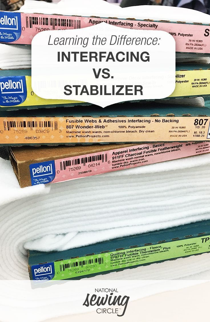 The Difference Between Interfacing And Stabilizer Sewing Circles Sewing Hacks Sewing Projects For Beginners